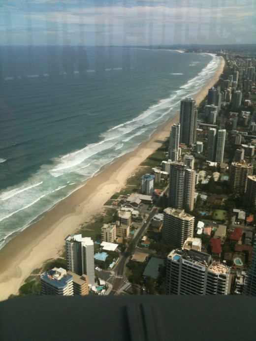 IMAGE5 Surfers Paradise Beach looking south from 80 storey Q1 Building