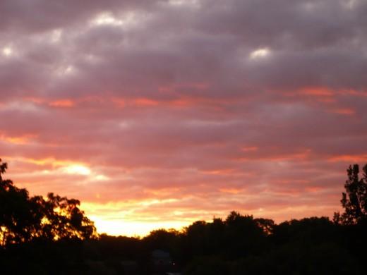 Sunrise over Lake Victoria in Stratford Ontario Canada