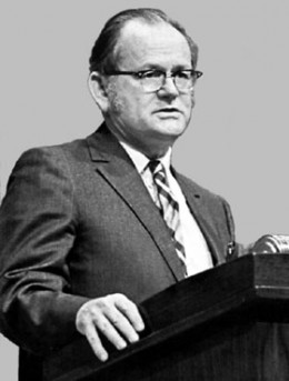 Garrett Hardin (April 21, 1915 – September 14, 2003).  Hardin posed a lot of theories that stirred debate on controversial subjects.