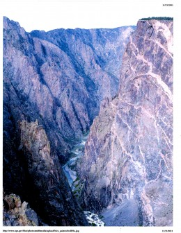 Peering Down the Black Canyon