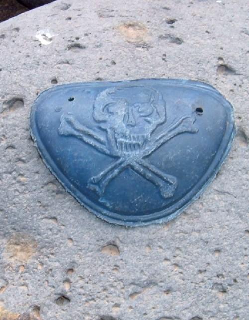 Skull and Bones in plastic found on La Caleta beach