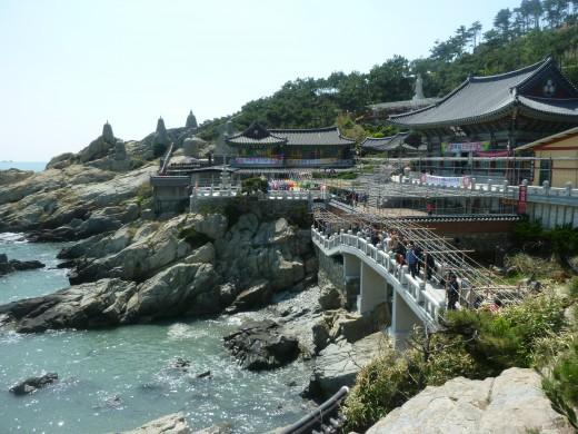 This is a Buddhist Temple outside of Haeundae.  You can see quite a few temples around the city.