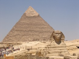 Pyramid & Sphinx of Khafre/Chefren in Giza Egypt by Ankur P, CC