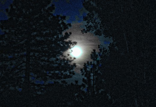 """Blue Corn Moon..""over Lake Gregory.."