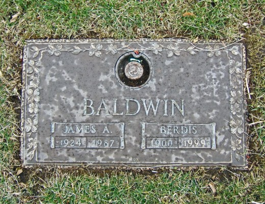 Baldwin is buried in Ferncliff Cemetery near New York City.  Berdis is Baldwin's mother.