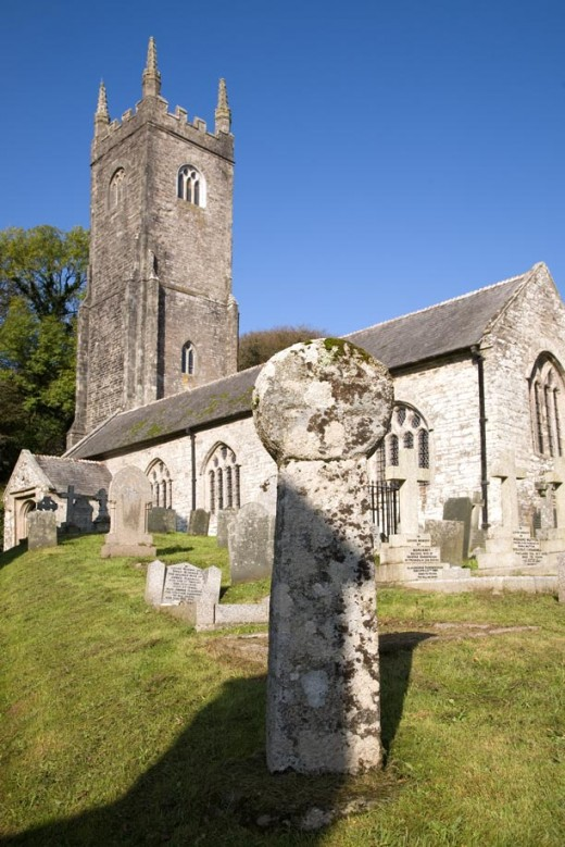 The church of St Nonny in Altunun with it's 6th century celtic cross