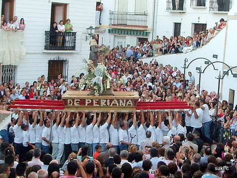 The fiesta of San Isidro in Periana attracts hundreds of people.