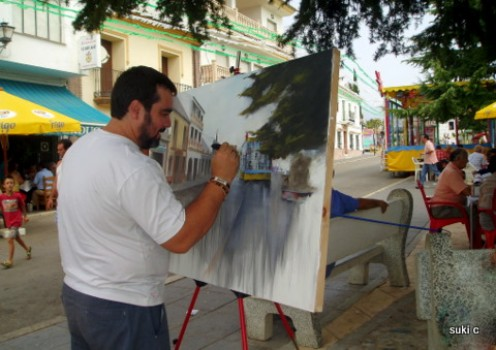An open air painting competition is held every year in the white village of Periana - there is always a high standard.