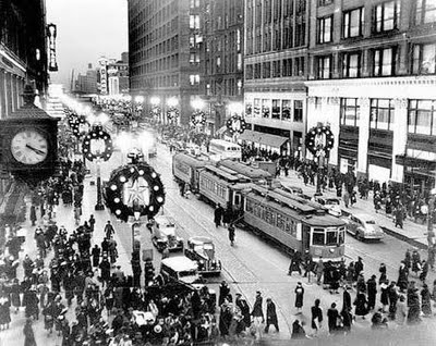Crowded Christmas Shoppers - 1900's