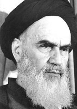 Ayatollah Khomeini, founder of the Islamic Republic of Iran