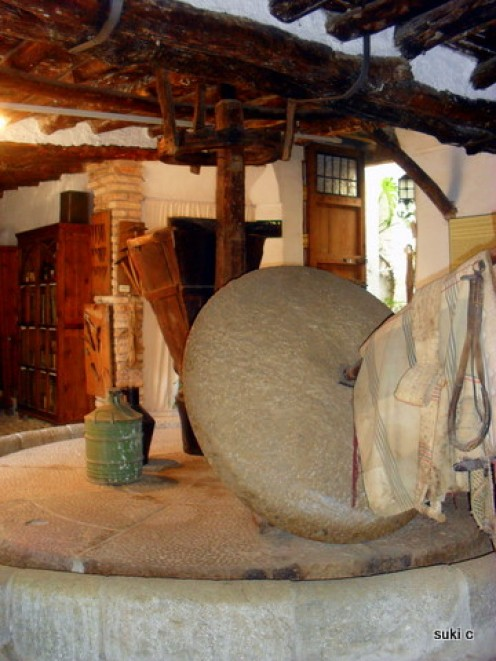 Old mill stones in the museum - these would have been turned by mules or donkeys.