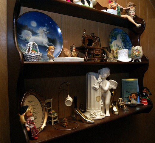 Shelves can be used to store many memories.