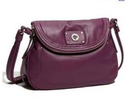 Marc by Marc Jacobs Natasha Turnlock Crossbody Shoulder Hobo Bag Magic Violet
