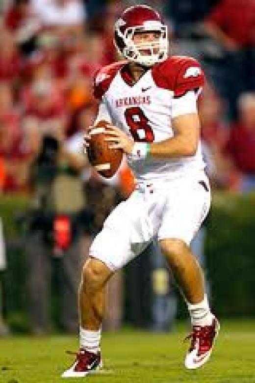 QB Tyler Wilson (Arkansas) '11 stats 243-385 3215yds 21td 5int