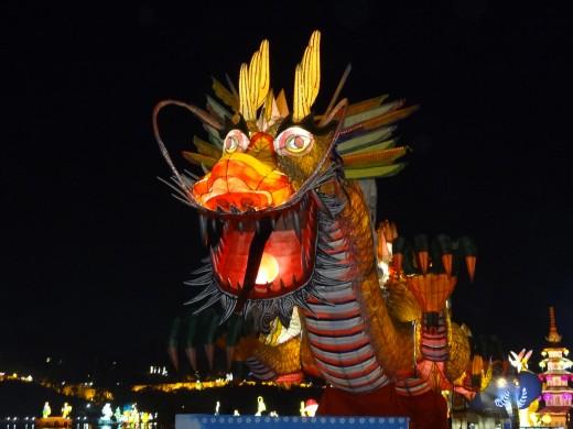 A dragon lantern.