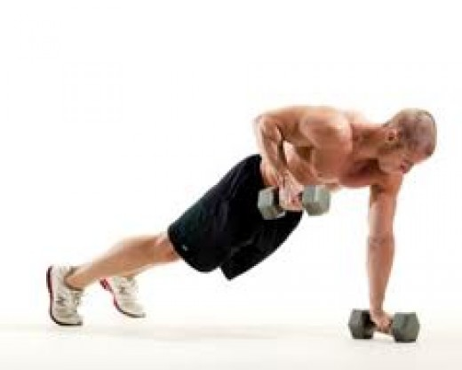 The dumbell Renegade Row