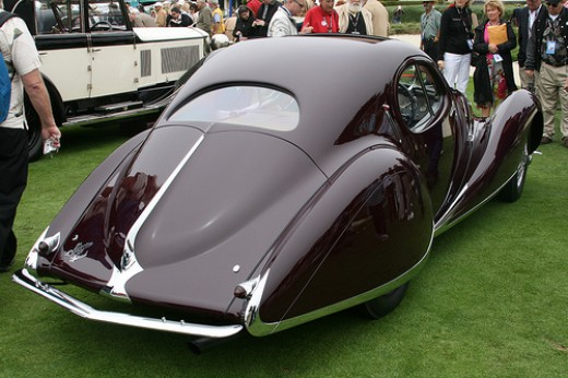 1938 Talbot T150-SS Figoni et Falaschi Coupe - this won a special award at the show
