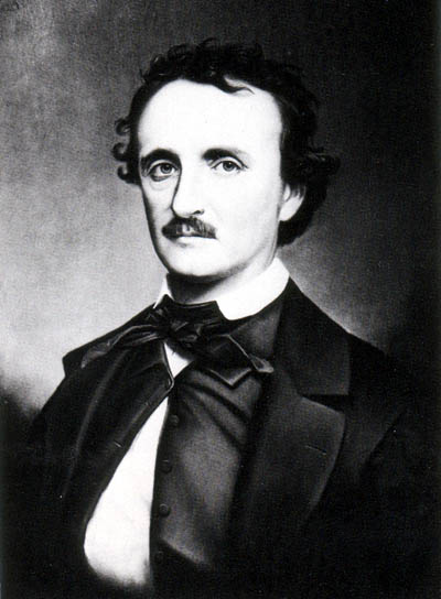 """A copy photograph of the portrait painted by Oscar Halling in the late 1860s of Edgar Allan Poe. Halling used the """"Thompson"""" daguerreotype, one of the last portraits taken of Poe in 1849, as a model for this painting."""