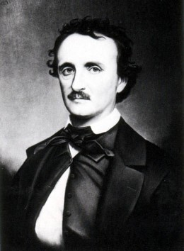 """A copy photograph of the portrait painted by Oscar Halling in the late 1860's of Edgar Allan Poe. Halling used the """"Thompson"""" daguerreotype, one of the last portraits taken of Poe in 1849, as a model for this painting."""