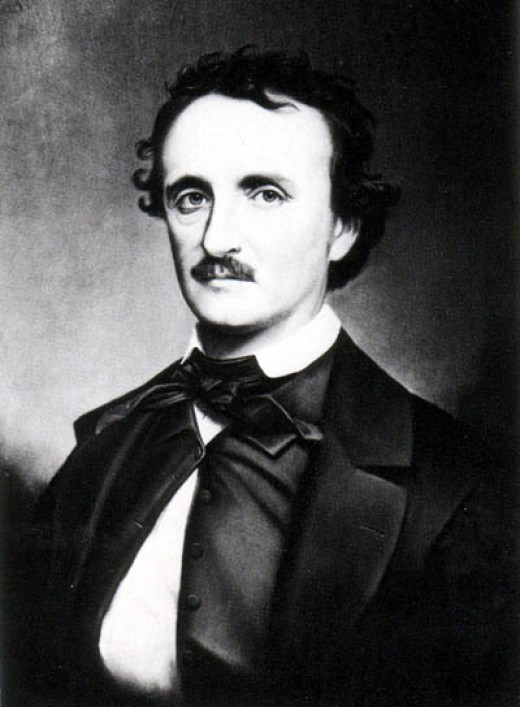 "A copy photograph of the portrait painted by Oscar Halling in the late 1860s of Edgar Allan Poe. Halling used the ""Thompson"" daguerreotype, one of the last portraits taken of Poe in 1849, as a model for this painting."