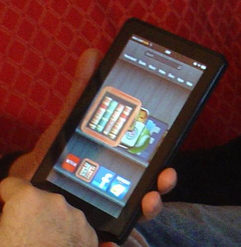 Aldiko- Great freeware book reader.  Until Amazon updates their Kindle Fire e-reader app, I prefer Aldiko.