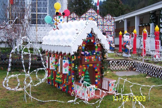 Homemade gingerbread house.