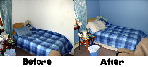 You can see the difference color makes in a room!