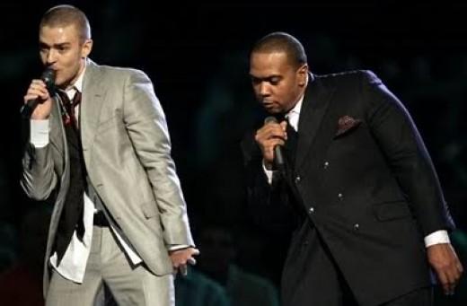 Justin Timberlake and Timbaland making beautiful music together.