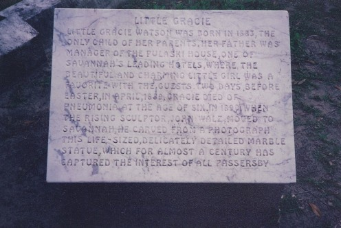 Epitaph of Gracie Watkins