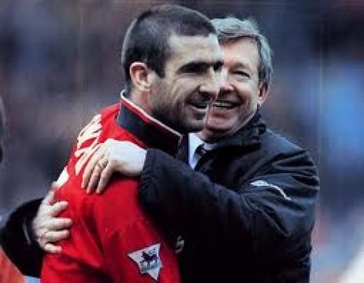 Eric Cantona and Sir Alex Ferguson