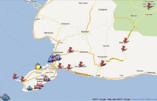 Bohol Panglao Tour Google map by munchwaffle