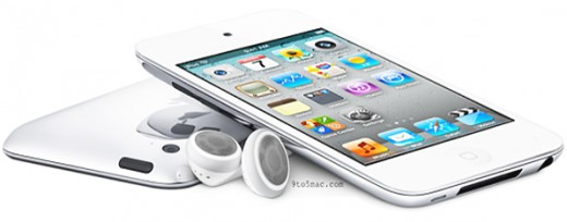 The iPod touch is available in white or black