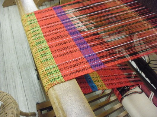 One of many projects in progress at the Cultural Arts Center weaving class in Columbus Ohio.
