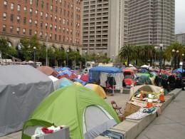 Occupy San Francisco, looking North