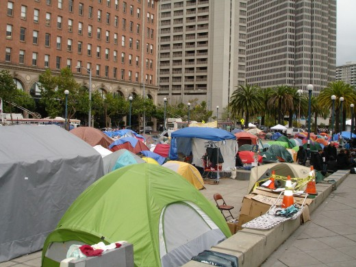 Occupy San Francisco, looking North