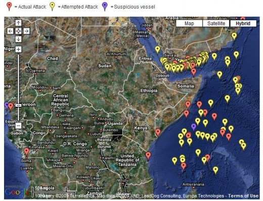 Maritime Piracy Map