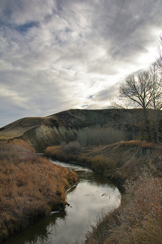 In the Rosebud Valley: a river bend.