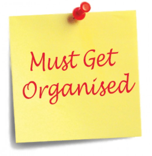 post it note to get organised