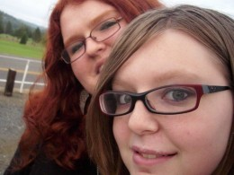 Cheyenne (In back) and me (front)