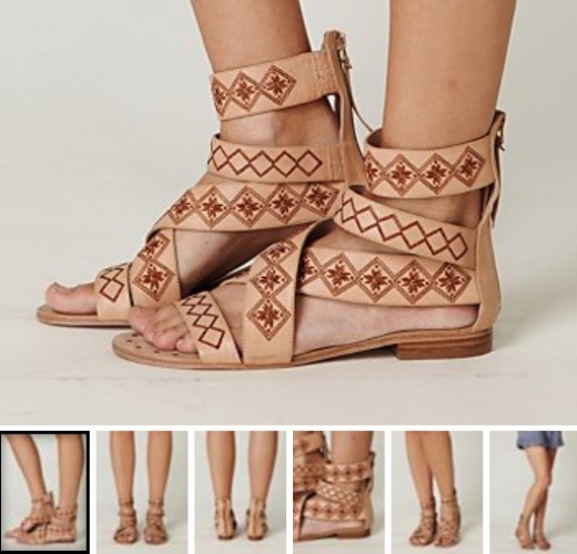 ethnic sandals:  most pictures in this hub is from the clothing retailer: freepeople