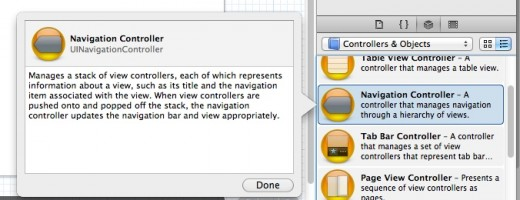 Figure 6: Drag and create a Navigation Controller which will manage navigation between View Controllers