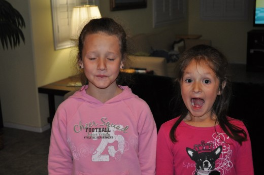 My girls are never afraid to take a challenge. Here, they are tasting Warheads for the very first time!