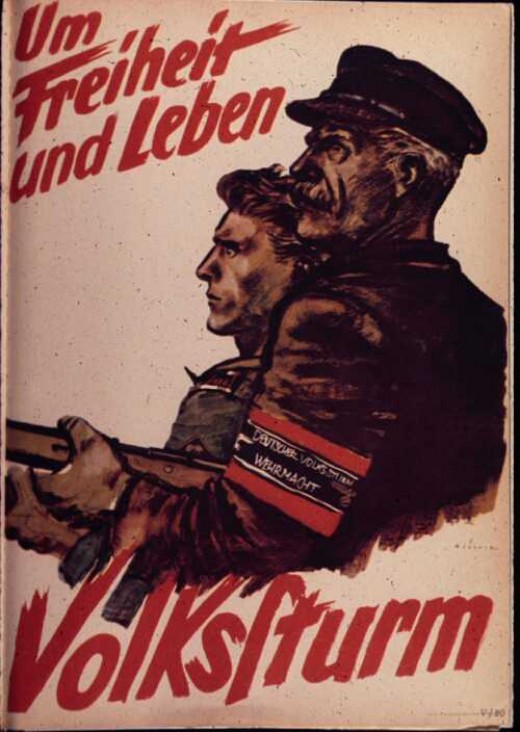 The Volkssturm, delivering men too old, and boys too young, for military service into a defensive militia, failed both militarily and as propaganda.