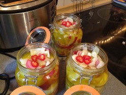 Top your pickled veg with more chilli's for colour