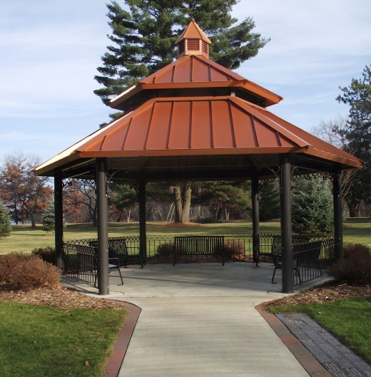 Gazebo type structure at the Firefighters Memorial