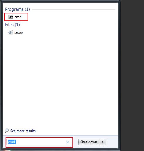 Shirft + Enter will also run cmd in Admin mode