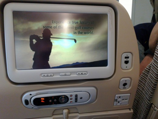 In Flight entertainment on plane