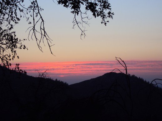 The beauty of a sunset as you leave the San Bernardino Mountains during this virtual business.  Hope to see you again soon!