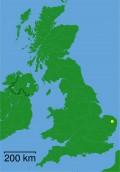 Map location of Norwich, Norfolk