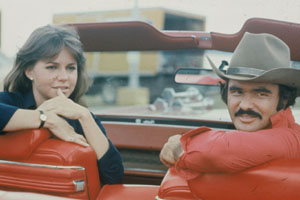 Sally Field and Burt Reynolds in Smokey and the Bandit